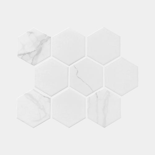 Carrara look Hexagon Matt Mosaic