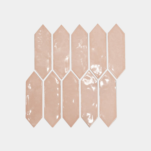 Light Pink Diamond Arrow Mosaic