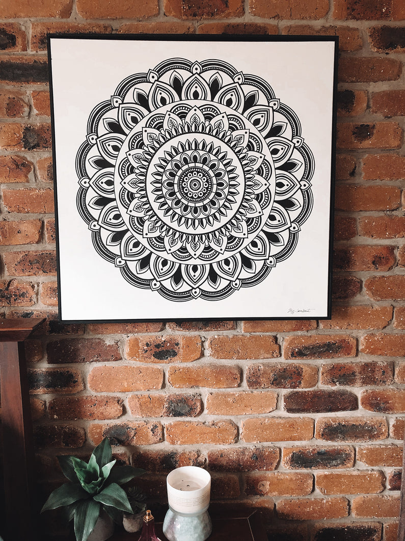 Mandala Print on Canvas