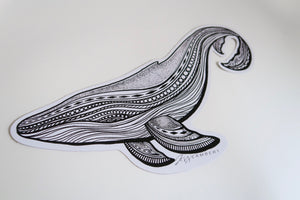 Whale sticker white