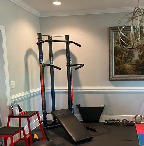 Cheryl's SCULPTAFIT Home-Gym System Set-Up in Her Home Fitness Room