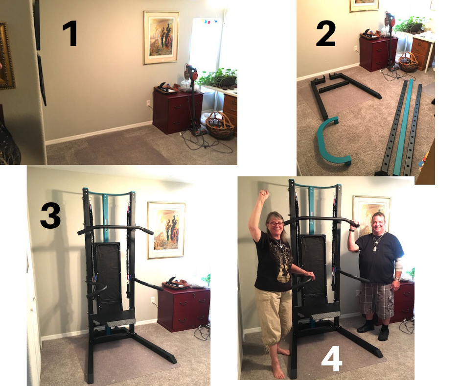 Home-Gym Set up for Shirley and Mickey SCULPTAFIT Bodyweight Home-Gym System