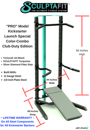 SCULPTAFIT All-In-One Home-Gym PRO Model (for Personal Trainers & Fitness Pros)