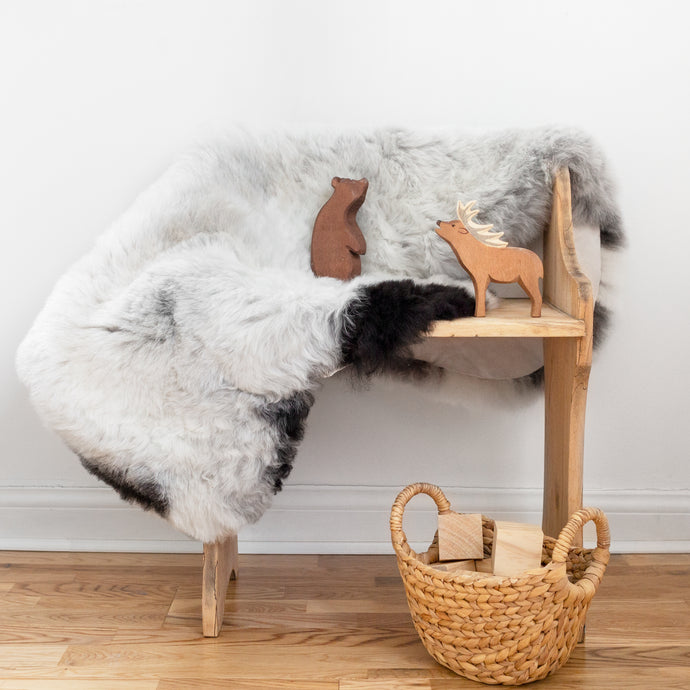 Laila - Shorn Icelandic Sheepskin With Dark Edges