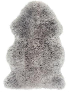 Linn - Long Haired Sheepskin in Grey