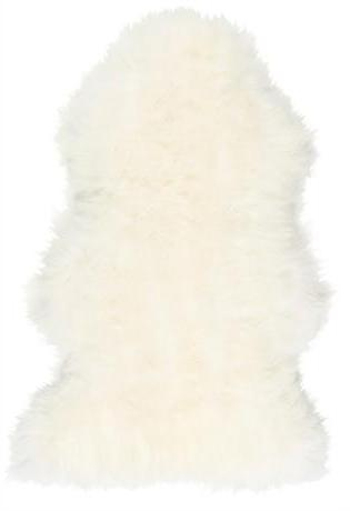 Linn - Long Haired Sheepskin in White