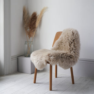 ethically crafted, organic sheepskin rug / throw in oyster