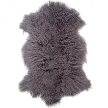 Load image into Gallery viewer, Rarebreed Tibetan Sheepskin Rug in Grey ethically sourced
