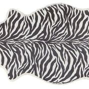 Lisbeth Zebra Print Short Hair Sheepskin rug- Surrey Style