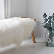 Load image into Gallery viewer, long hair icelandic sheepskin rug in white