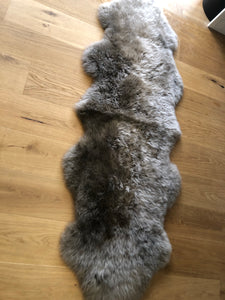 scandinavian style rug, taupe fur rug, taupe fur throw