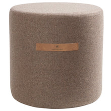 Load image into Gallery viewer, Sara- Round Wool Pouffe in Capuccino
