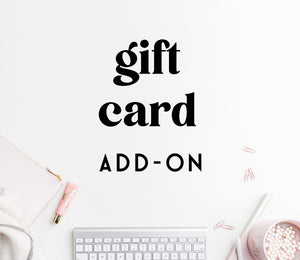 ADD-ON: gift card