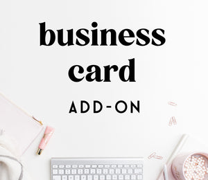 ADD-ON: business card