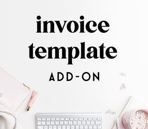 ADD-ON: invoice template