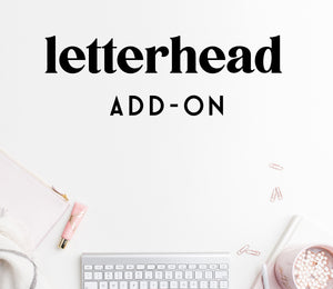 ADD-ON: letterhead