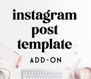 ADD-ON: instagram post template