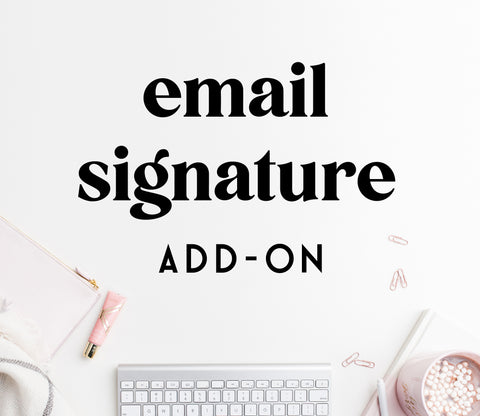 ADD-ON: email signature