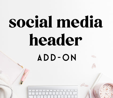 ADD-ON: social media header