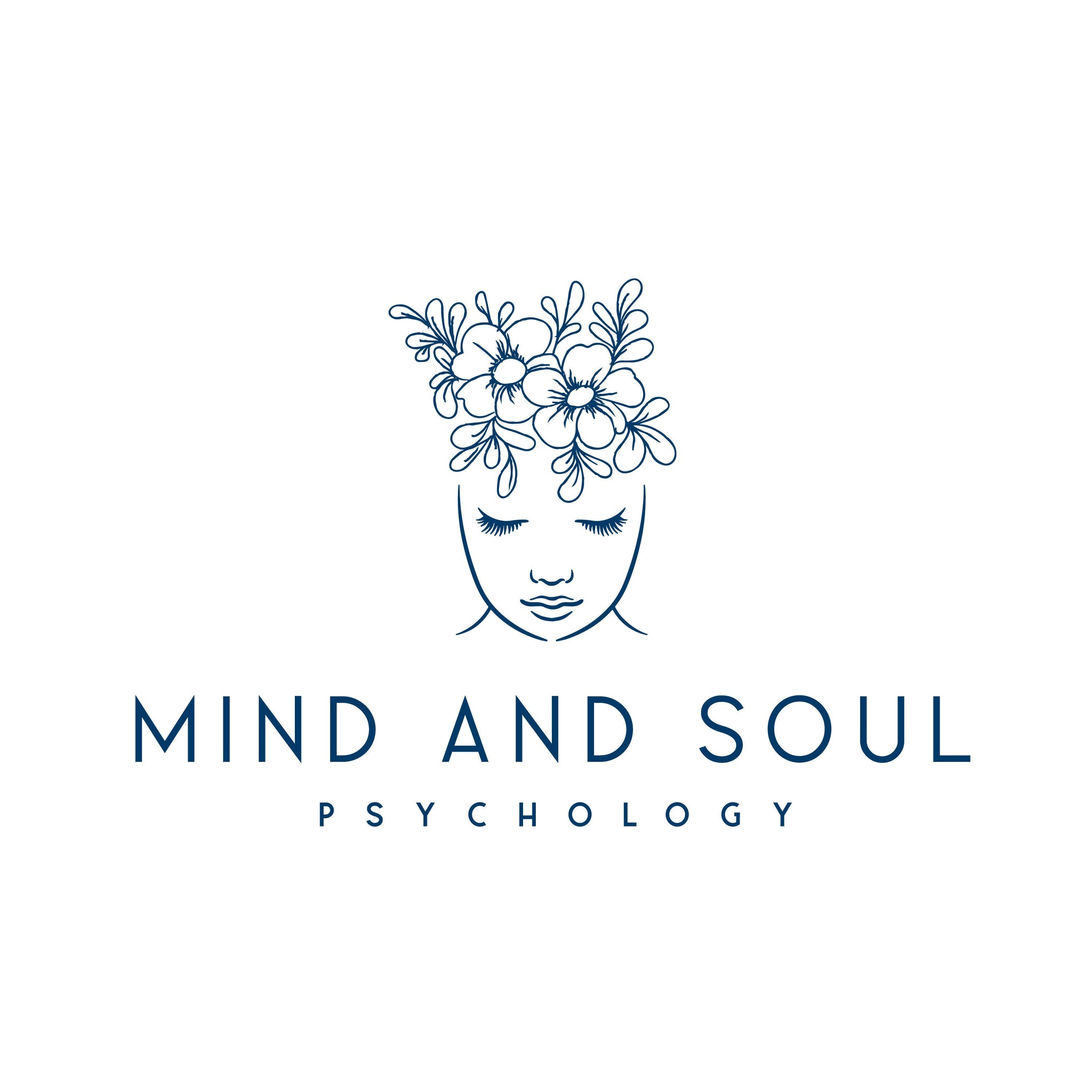 Psychologist logo design, Photography branding Business logo design, Pre made Logo and Watermark, Unique Floral Beauty logo branding