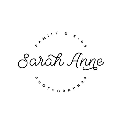 Minimalist Pre made logo, Circle Blog logo design, Geometric logo and watermark, Black and White Business logo design, Scandi logo design