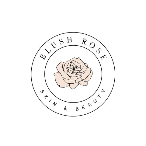 Blush Rose logo design, Photography branding Business logo design, Pre made Logo and Watermark, Unique Pink Floral Beauty logo branding