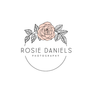 Blush Rose logo design, Photography branding Business logo design, Pre made Logo and Watermark, Unique Circular Floral Beauty logo branding