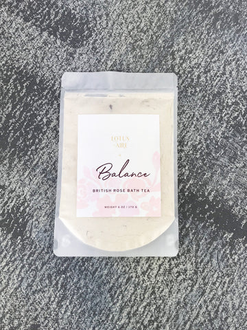 BALANCE - British Rose + Goat's Milk Bath Tea