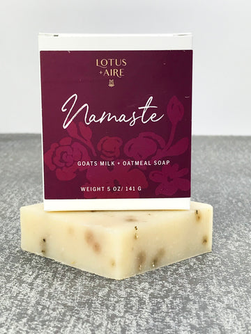 NAMASTE - Goats Milk + Oatmeal Soap Bar