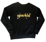 Sparkle sweatshirt in black