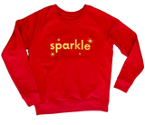 Sparkle sweatshirt in Red