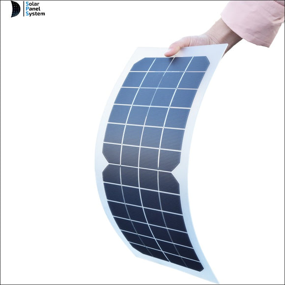 10W 12V Solar Charger Kit Cell Ultra Thin Flexible Solar Panel