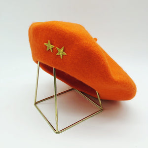 beret-orange-etoile-doree-champion-du-monde-laine-gili