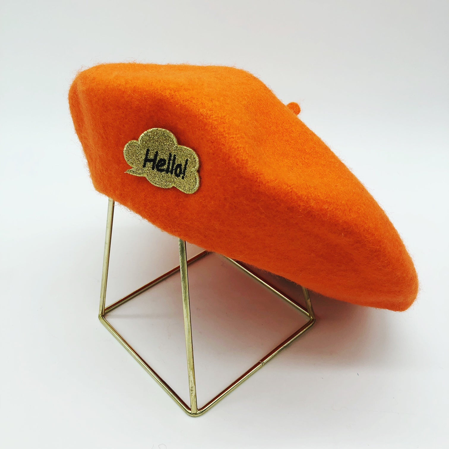 beret-orange-hello-bonjour-gili-laine