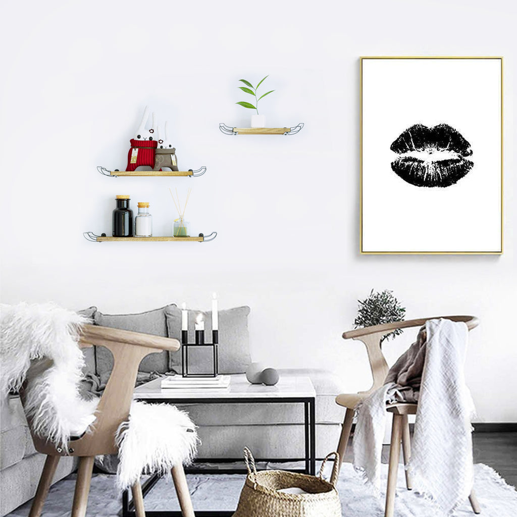 Home decorative wall floating shelves