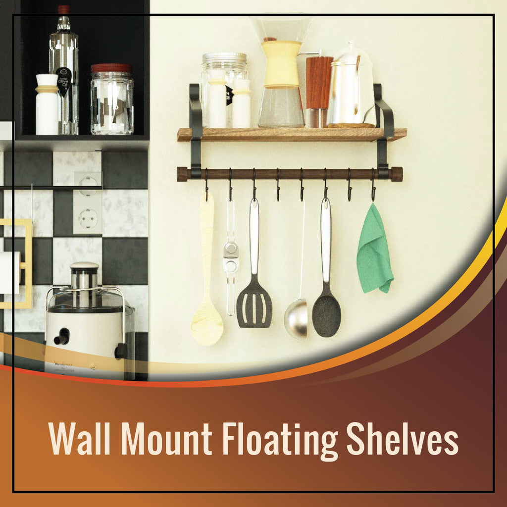 wall mount shelf for kitchen