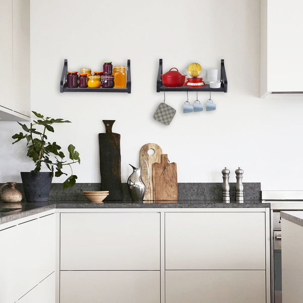Kitchen pot shelves