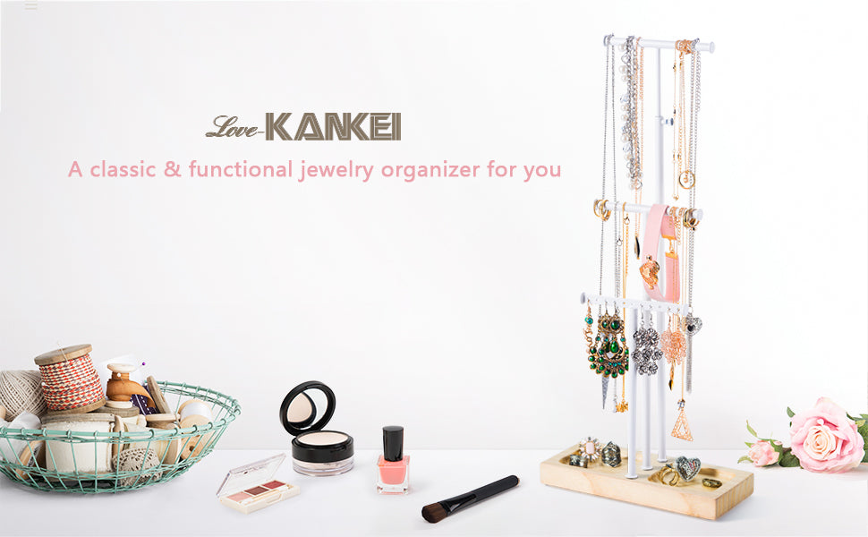 Love-KANKEI Jewelry Organizer Tree White and Nature