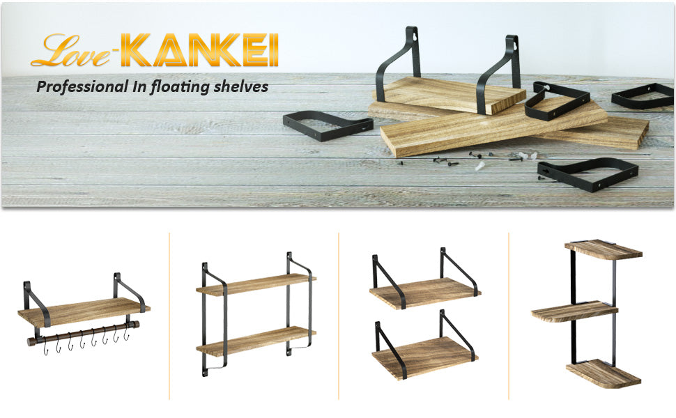 Love-KANKEI Floating Shelves