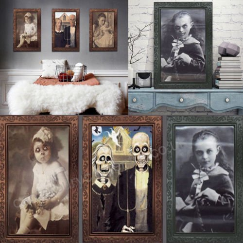 Hunted photo frames for Halloween decoration