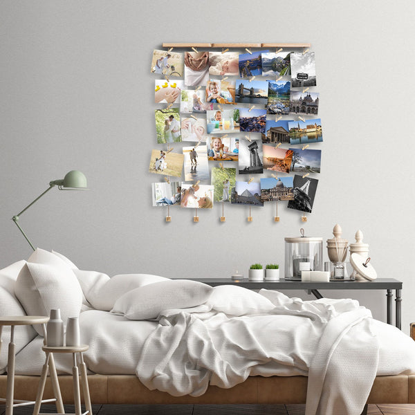 bed room photo-frame idea