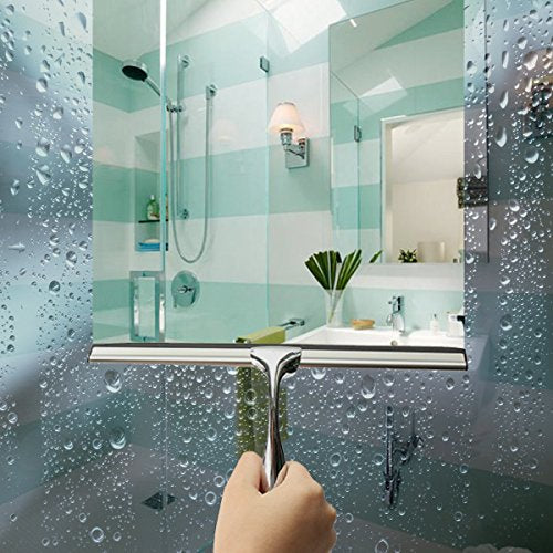 Shower Squeegee with 1 Replacement Rubber Blade Hook