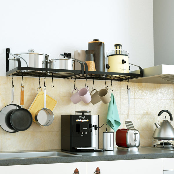 Kitchen Counter top organised shelve