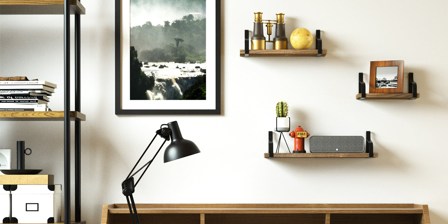 Love-KANKEI Floating Shelves Wall Mounted Set of 3