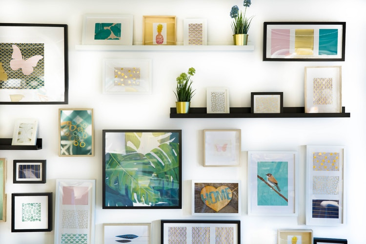 wall framed art decoratives