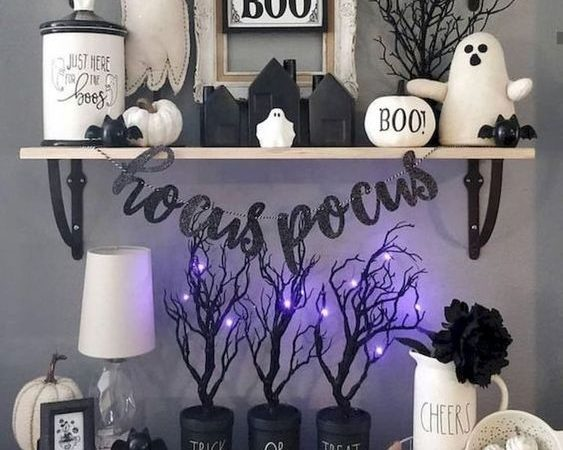 Halloween Book and living room decoration
