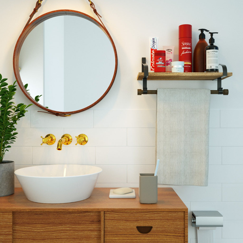 floating shelves for the bathroom