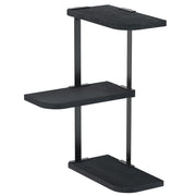 Love-KANKEI Corner Shelf Wall Mount of 3 Weathered Black