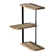 Corner Shelf Wall Mount of 3 Tier Carbonized Black