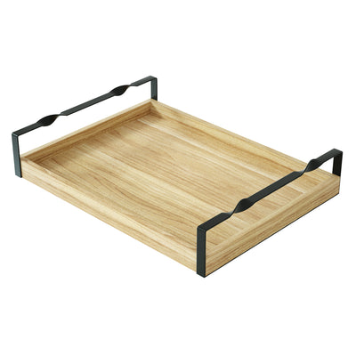 Love-KANKEI Wood Breakfast Tray Metal Twist Handles
